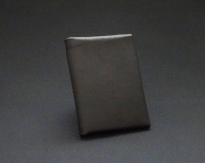 Bantam8Note Wallet - Soft Black - Kangaroo leather with RFID credit card blocking - Handmade - James Watson