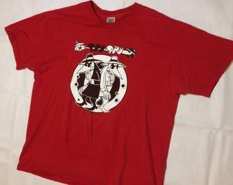 Vintage spy vs spy t shirt mens xl mad magazine comics 90s
