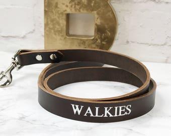 Leather Dog Lead | Dark Brown Leather Dog Leash | Walkies Dog Lead | Designer Dog Lead | Stylish Dog Lead | Dog Accessories