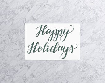 Happy Holidays  | Christmas Card and Envelope