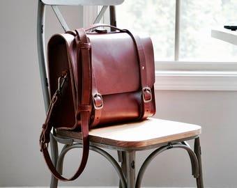 The Voyager Satchel / Leather Satchel / Leather Bag / Leather Messenger Bag