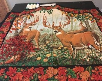 Two bucks in the forest picture panel