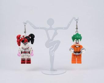 Earrings Minifigures - Joker & Harley Quinn