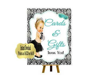 DIGITAL FILE Cards & Gifts 16x20 or 8x10,  Baby and CO,  Babyshower, Bridal Shower, Audrey Collection