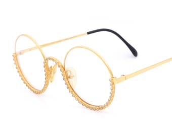 Gianfranco Ferrè GFF 76 vintage round eyeglasses made in Italy 80's