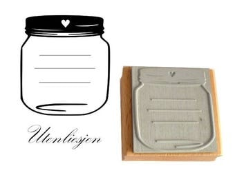 Stamp tag for a jam jar