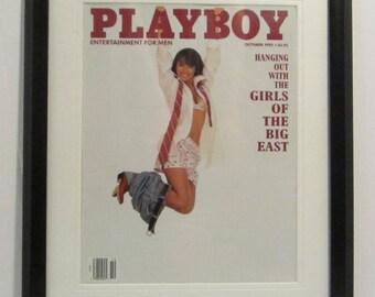 Vintage Playboy Magazine Cover Matted Framed : October 1992 - Cristy Thom