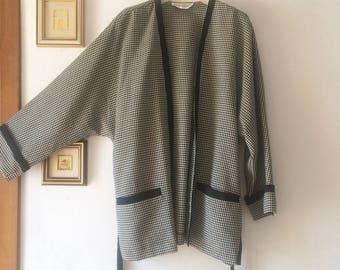 Kimono jacket in Pied de poule