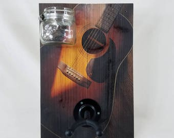 Guitar Hangar with Accessories Container