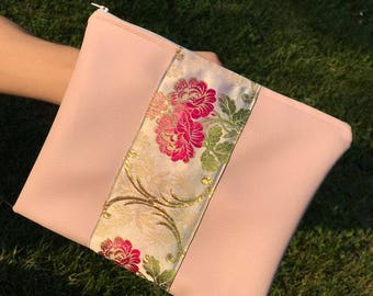 Faux Leather Clutch pink Clutchbag