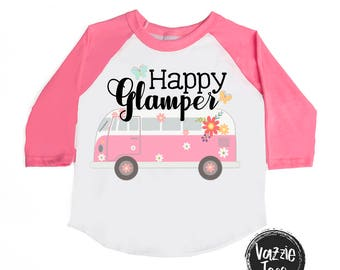 Happy Glamper Shirt - Glamping Shirts - Little Adventurer Shirts - Unisex Kids Tees - Girls' Shirts - Glamping Shirts - Happy Camper