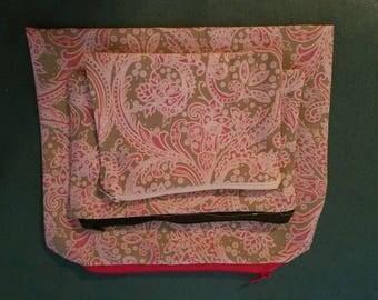 Set of three zipper pouches
