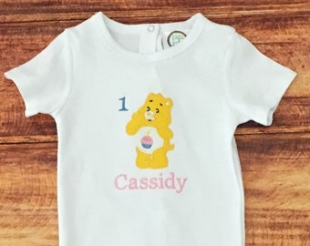 Care Bears 1st Birthday, Care Bears, Care Bears First Birthday Shirt, Care Bears Birthday, Birthday Bear, Care Bears Bodysuit, Embroidered