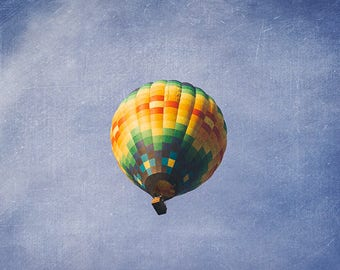 Hot Air Balloon Photography, Air Balloon Picture, Nursery Decor, Hot Air Balloon Print, Nursery Room Art, Wall Decor, Fine Art Photography