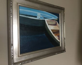 Original Framed Dingy Painting Titles Spa Creek Peace