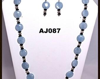 SIMPLE, YET ELEGANT........ AJ087 - This blue kyanite necklace has a very simple, yet elegant design.