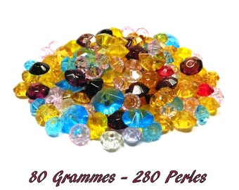 80 GR saucer approximately 280 beads 6-10 mm beads.