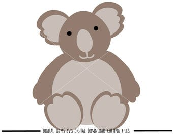 Koala svg / dxf / eps / png files. Digital download. Compatible with Cricut and Silhouette machines. Small commercial use ok