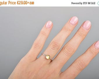 Citrine Ring, Stacking Ring, November Birthstone Ring, Dainty Ring, gift Yellow Gemstone ring, Sterling Silver ring, Natural Citrine Jewelry