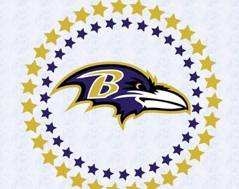 Baltimore ravens SVG,DXF, studio file, clipart PNG, ravens cut file, baltimore ravens circle, cricut, silhouette cameo