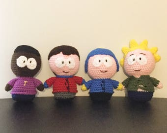 Crochet Amigurumi School Buddy Boys Plush Set--FREE shipping