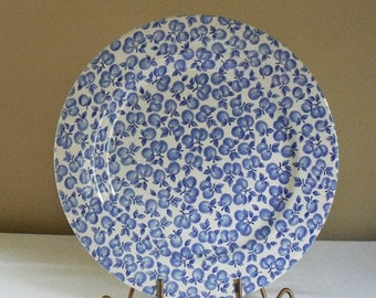 ON SALE Vintage English Ironstone Tableware, English Plate, EIT Ironstone Plate, Blue and White Plate, Vintage Ironstone