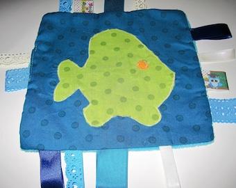 Fish, Velvet minkee/cotton blanket