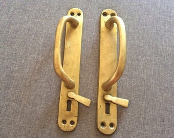 Big Door Handles Bronze, Vintage 23 Cm. Door Handle USSR, Old Antique Long
