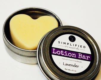 Lotion Bar/All Natural Body Butter/Organic Moisturizer/Foot Lotion/Dry Skin Relief and Protection/Gift for Her/After Sun Care/Sunburn Relief