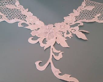 White applique lace sewing