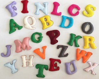 Alphabet magnets, refrigerator magnets for kids, alphabet fridge magnets to play with and to learn, montessori inspiration