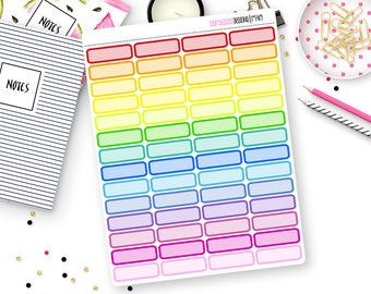 Custom Color Quarter Box Stickers for Erin Condren Life Planner, Plum Paper or Mambi Happy Planners