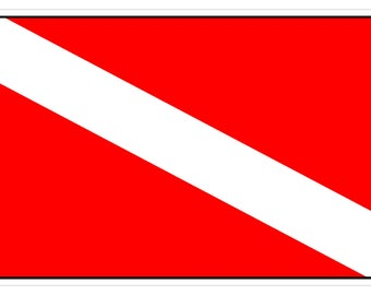 American Flag (Y55) Diver Down Flag Vinyl Decal Sticker Car Laptop Window