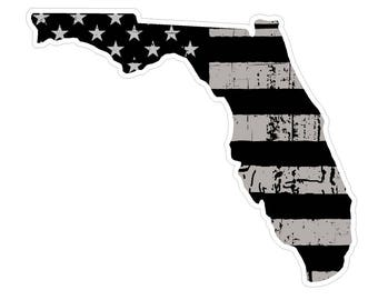 Florida State (N1) Distressed Flag Vinyl Decal Sticker Car/Truck Laptop/Netbook Window