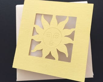 Yellow Sun Mini Note Cards with Envelopes 6