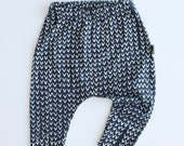 Baby Leggings / Baby Pants in Harem Style - Tribe (Navy) - READY TO SHIP by Little Dreamer