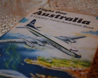 Australia. Flight one. A Ladybird Travel Adventure Book. A Vintage Ladybird Book. Series 587. 1970