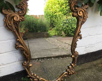 Beautiful Gold Ornate Mirror - Enchanting Mirror! Lovely Gold Mirror.