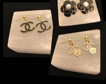 Little girl gold earrings, high fashion earrings for little girls