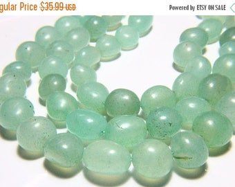 """65% OFF SALE 17"""" Full Strand Peru Chalcedony Beads Smooth Nuggets , 12x13mm to 14x18mm Chalcedony Tumble Drilled Gemstone Beads Stone Bead"""