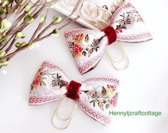 Gorgeous Bow Paper clip - Planner clip accessories | planner goodies | traveler's notebook flower clip charm