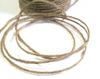 10 m Brown 2mm hemp cord