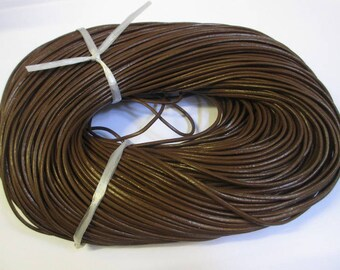 1 meter Brown 2mm leather cord