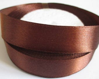 10 m 20mm chocolate colored satin ribbon
