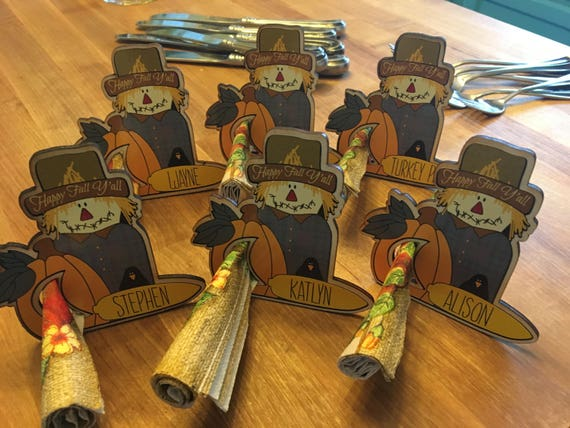 Happy Fall Y'all Thanksgiving Personalized Napkin Holders