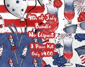 4th of July Mystery Bundle 8 Sheets Planner Sticker-Erin Condren Sticker-Happy Planner Stickers-Floral Stickers