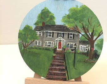 Custom Home Ornaments: Hand-painted 4 inch Wooden