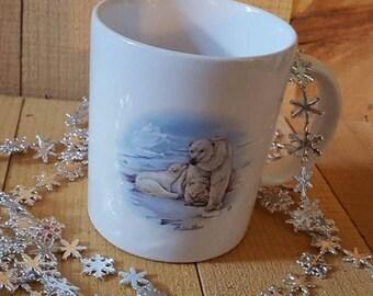 8 oz Coffee Mu, Polar Bears