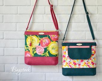The Jasmine Sling Bag, PDF sewing pattern, Bagstock Designs