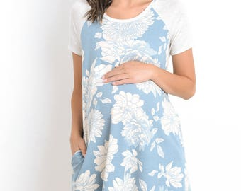 Hello Miz Floral Loose  With Side Pocket On The Side Maternity Dress